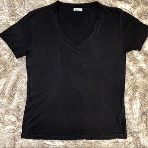 Black V neck Splendid T-shirt. Short sleeve